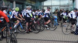 Ride4Life fundraisers start their journey at Darent Valley Hospital