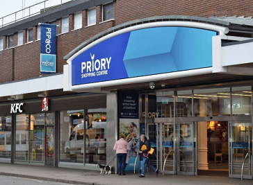 The Priory Shopping Centre in Dartford