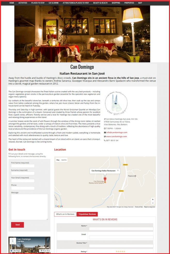 Sales Page Example when Advertise with us What's on in Dartford.com